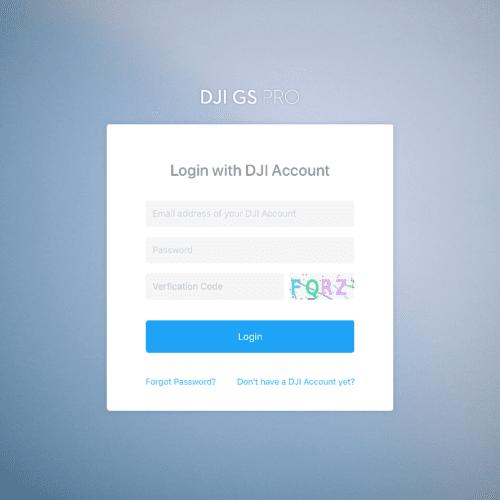 DJI GS PRO V2.0 DJI Account